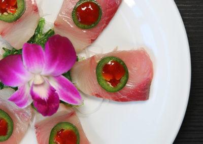 Yellowtail Sashimi (Radish, Carrot, Hot Sauce)